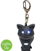 Black Cat LED Keychain