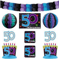 The Party Continues 50th Birthday Room Decorating Kit 10pc