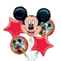 Mickey Mouse Birthday Balloon Bouquet 5pc