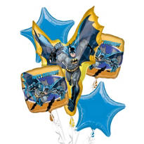 Batman Birthday Balloon Bouquet 5pc