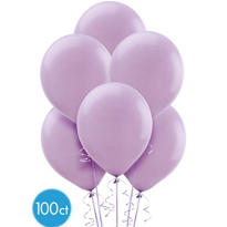 Lavender Latex Balloons 12in 100ct