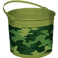 Plastic Camouflage Easter Bucket 8in