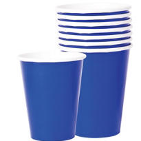 Value Royal Blue Paper Cups 8ct