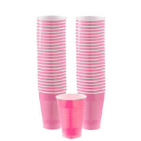 Bright Pink Plastic Cups 12oz 50ct
