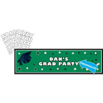 Green Personalized Graduation Banner 65in