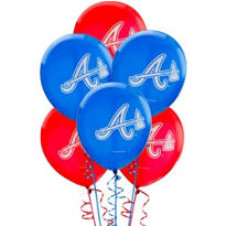 Atlanta Braves Latex Balloons 12in 6ct
