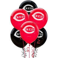 Cincinnati Reds Latex Balloons 12in 6ct