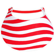 Red Stripes Patriotic Foam Visor