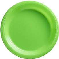 Kiwi Plastic Dinner Plates 50ct