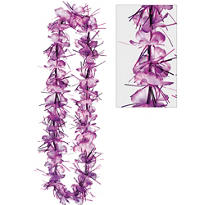 Purple Tinsel Lei 40in