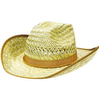 Beach Bum Straw Cowboy Hat