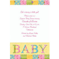 Cute As A Button Custom Invitation