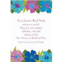 Floral Paradise Cool Custom Invitation