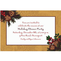 Holiday Splendor Custom Invitation