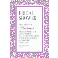 Lavender Ornamental Scroll Custom Invitation