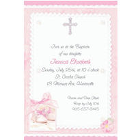 Custom Tiny Blessing Pink Invitations