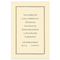 Gray & Gold Lines/Ecru Custom Invitation