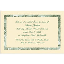 Engraving Border/Ecru Custom Invitation