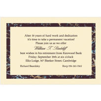 Black Marble Border/Ecru Custom Invitation