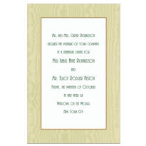 Sage Moire/White Custom Invitation
