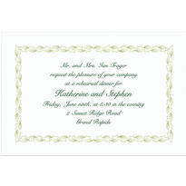 Sage Leaf Scroll Custom Invitation