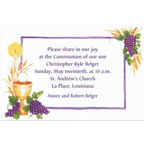 Communion with Grapes Custom Invitation