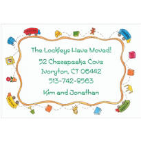Moving Truck Border Custom Housewarming Invitation