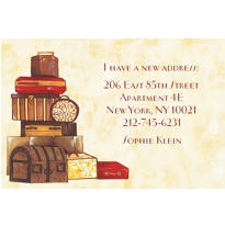 Sophisticated Luggage Custom Housewarming Invitation