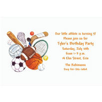 All Sports Custom Invitation