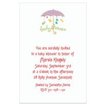 Baby Shower Umbrella Custom Baby Shower Invitation