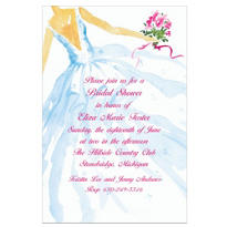 Fashion Bridal Gown Custom Wedding Invitation