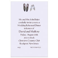 Bride and Groom Shoes Custom Wedding Invitation