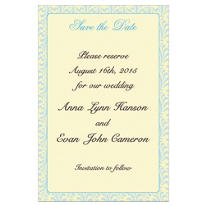 Formal Save-the-Date Custom Wedding Invitation