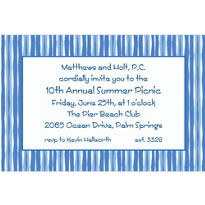 Cornflower Blue Wavy Stripe Custom Invitation