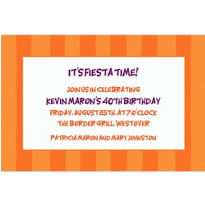 Cantaloupe Awning Stripe Custom Invitation