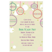 Contemporary Ornaments Custom Invitation