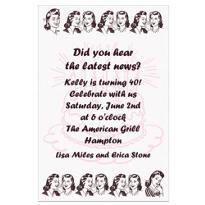 Birthday Gossip Custom Invitation
