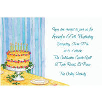 Custom Still Life Birthday Invitations