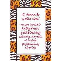 Custom Wild Thing Checks Invitations