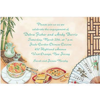 Chinese Dinner Party Custom Invitation