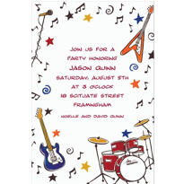 Rock & Roll Party Custom Invitation