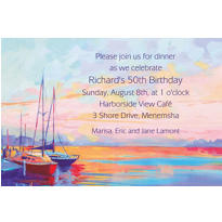 Sailing at Sunset Custom Invitation