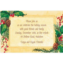 Pretty Holiday Foliage Custom Invitation