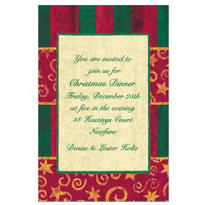 Blocky Stripes and Spirals Custom Invitation