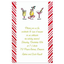 Christmas Cocktails Custom Invitation