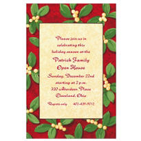 Handsome Mistletoe Custom Invitation