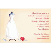 Bridal Gown Dress Form Custom Bridal Shower Invitation