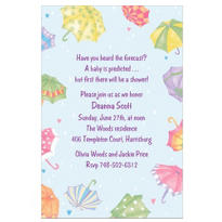 Baby Shower Umbrellas Custom Baby Shower Invitation