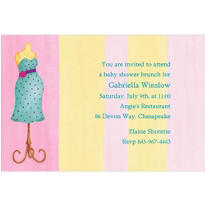 Lovely Mommy Dress Form Custom Baby Shower Invitation