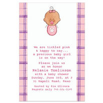 Baby Girl Portrait Latina Custom Baby Shower Invitation